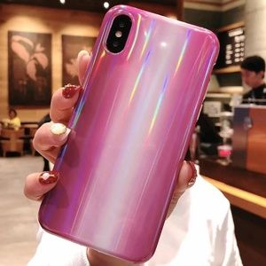 NEW iPhone 7+/8+ Purple Marble Laser Case